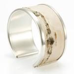 Armband, silver och näver
