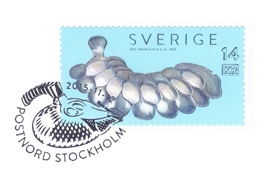 Stämplat frimärke - Erik Tidäng
