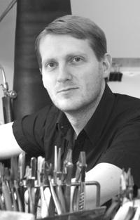 Erik Tidäng i verkstaden