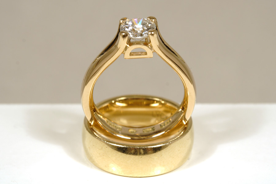 Guldring med initial