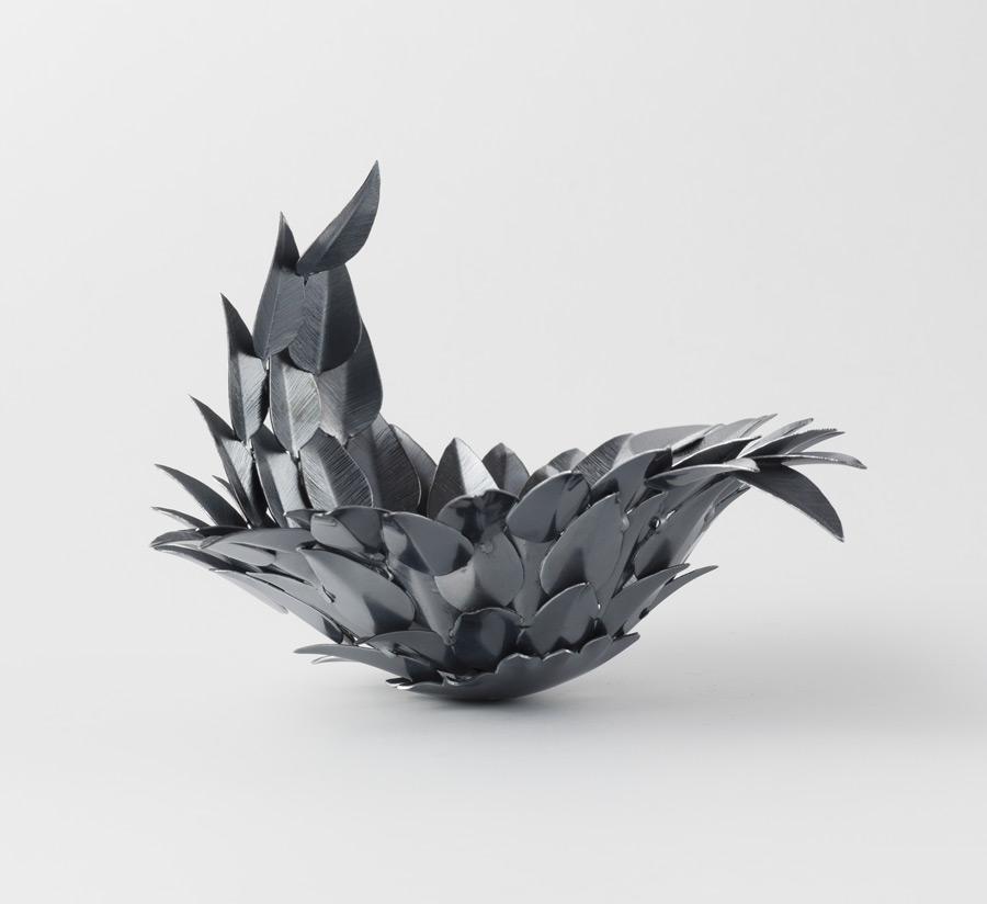 Svarta fjädrar - Silverskål