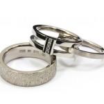 Vigselringar och förlovningsringar av vitguld