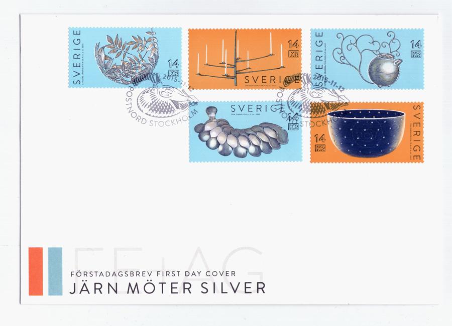 Förstadagsbrev - Järn möter silver