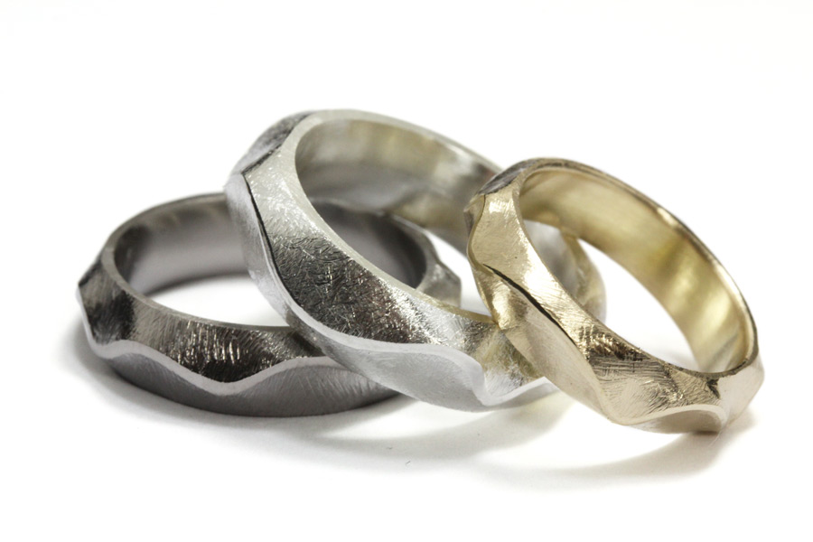 Wave - titan, silver och guld - Erik Tidäng