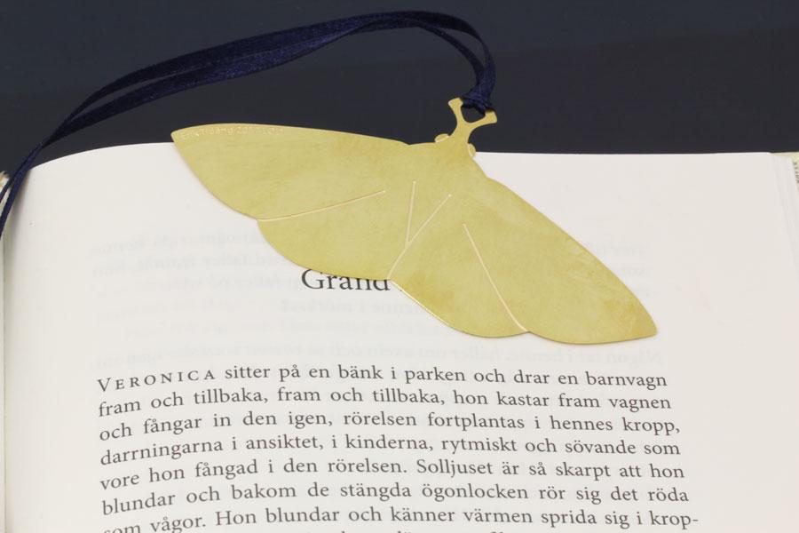 Bokmal, bokmärke av mässing - Erik Tidäng