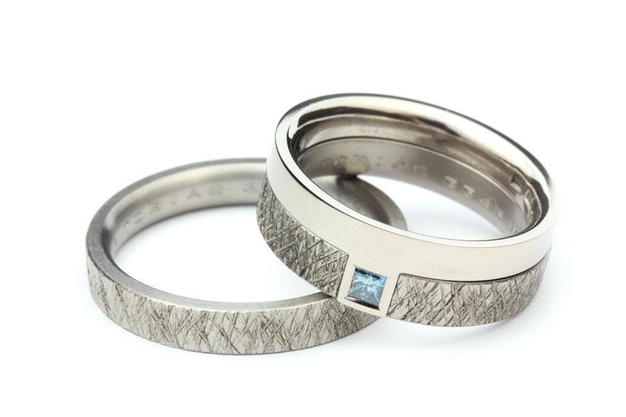 Vigselring och förlovningsring i kombination - Erik Tidäng