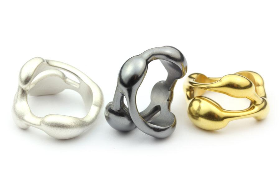 ringar i silver och guld - Erik Tidäng