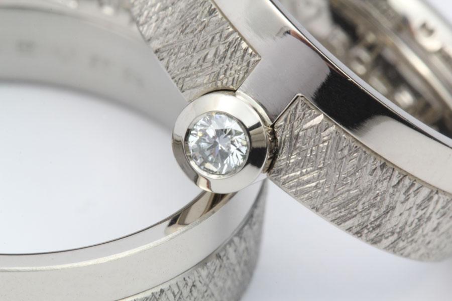 Detalj av fattning med diamant - Erik Tidäng
