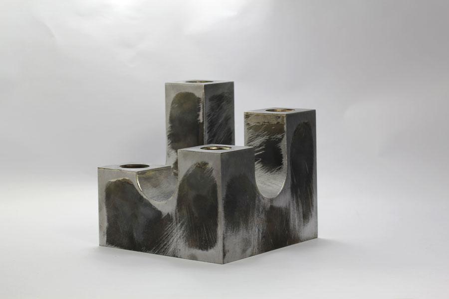 Ljusstake av stål - Erik Tidäng