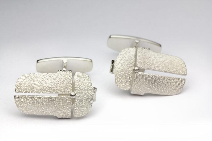 Manschettknappar av silver, scarabé - Erik Tidäng