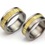 Bredband - vigselring som kombinerar olika metaller