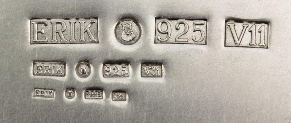 exempel på olika storlek av silverstämplar - Erik Tidäng