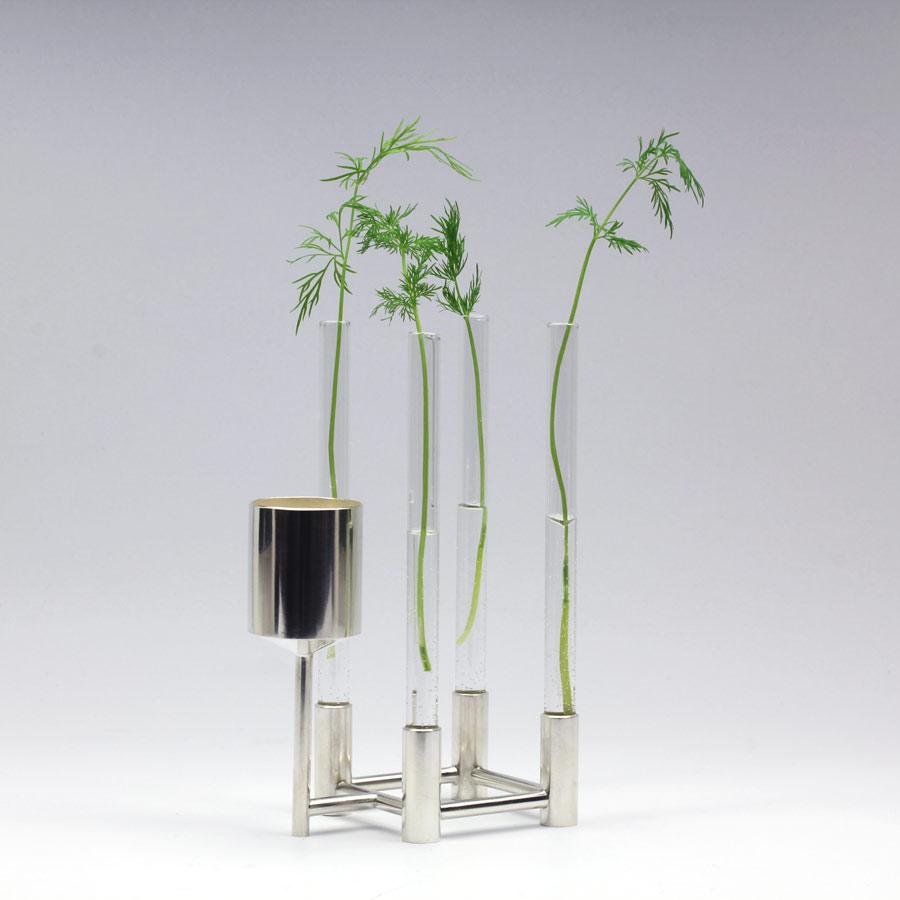 Liten vas av silver och glas - Erik Tidäng